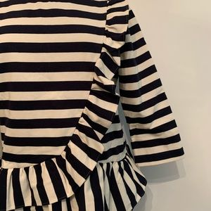 J. Crew Tops - J.Crew Striped Top with Ruffle Detail
